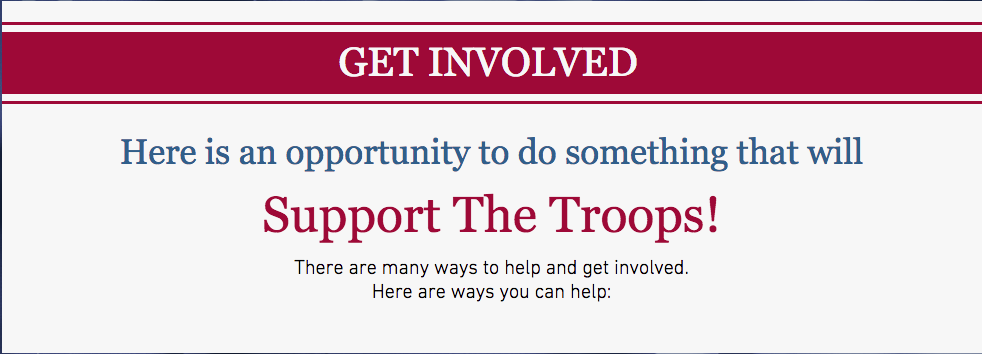 Get Involved Military Support Organization